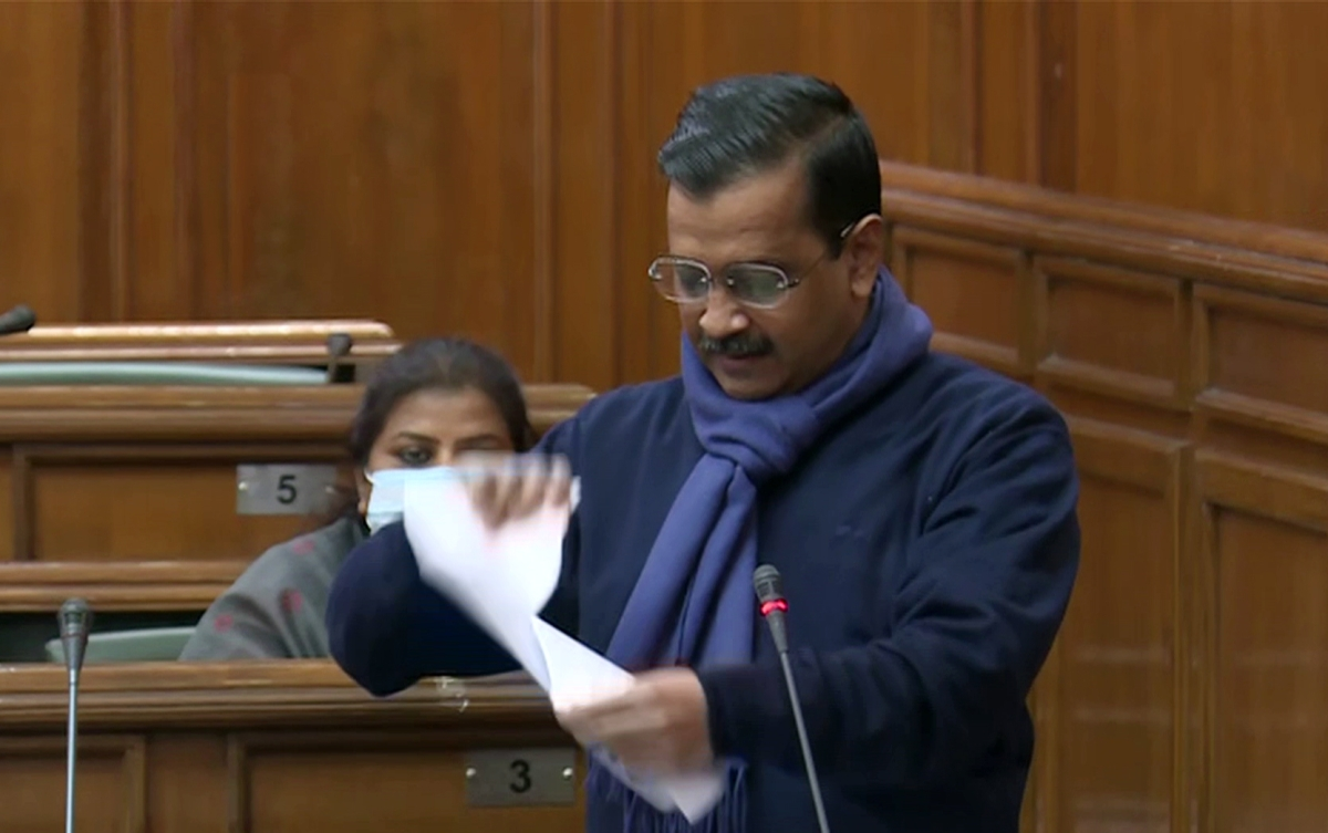 Kejriwal tears farm laws in assembly, accuses BJP of bringing them to get funds for elections