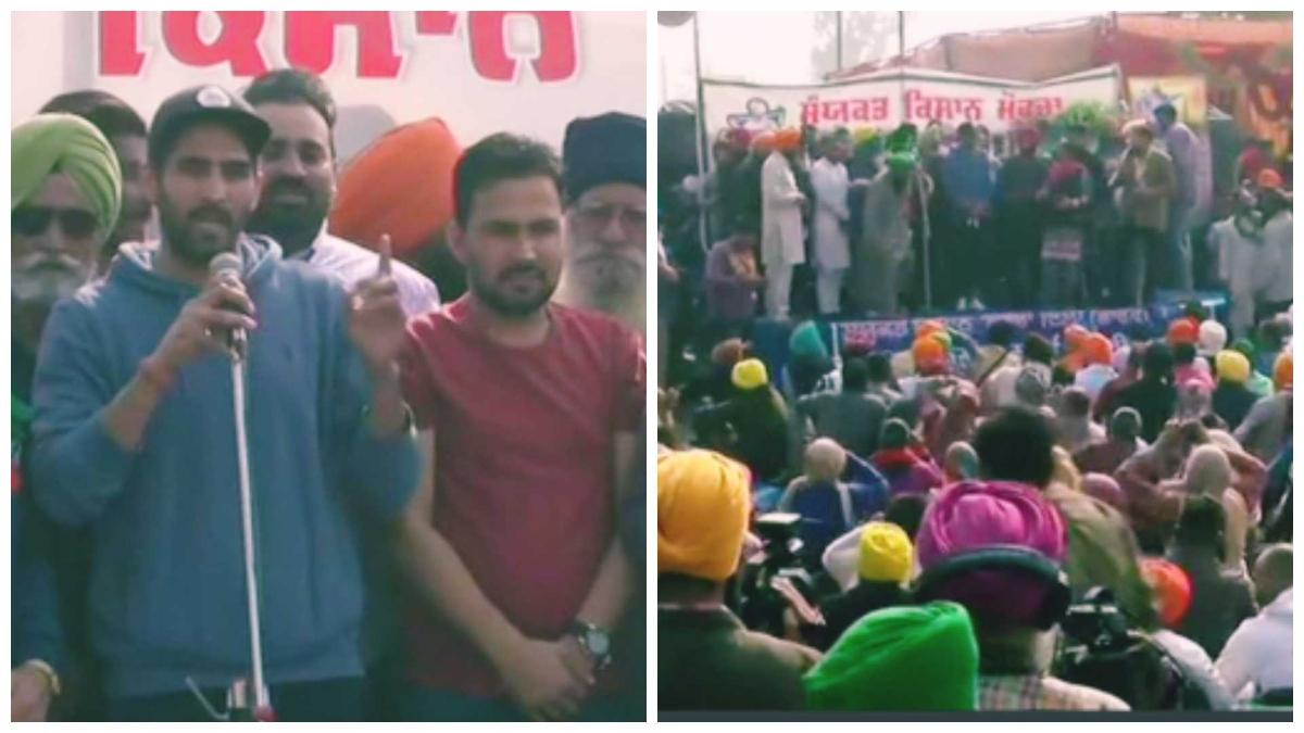 Boxer Vijender Singh joins farmers at Singhu border; threatens to return  Khel Ratna Award