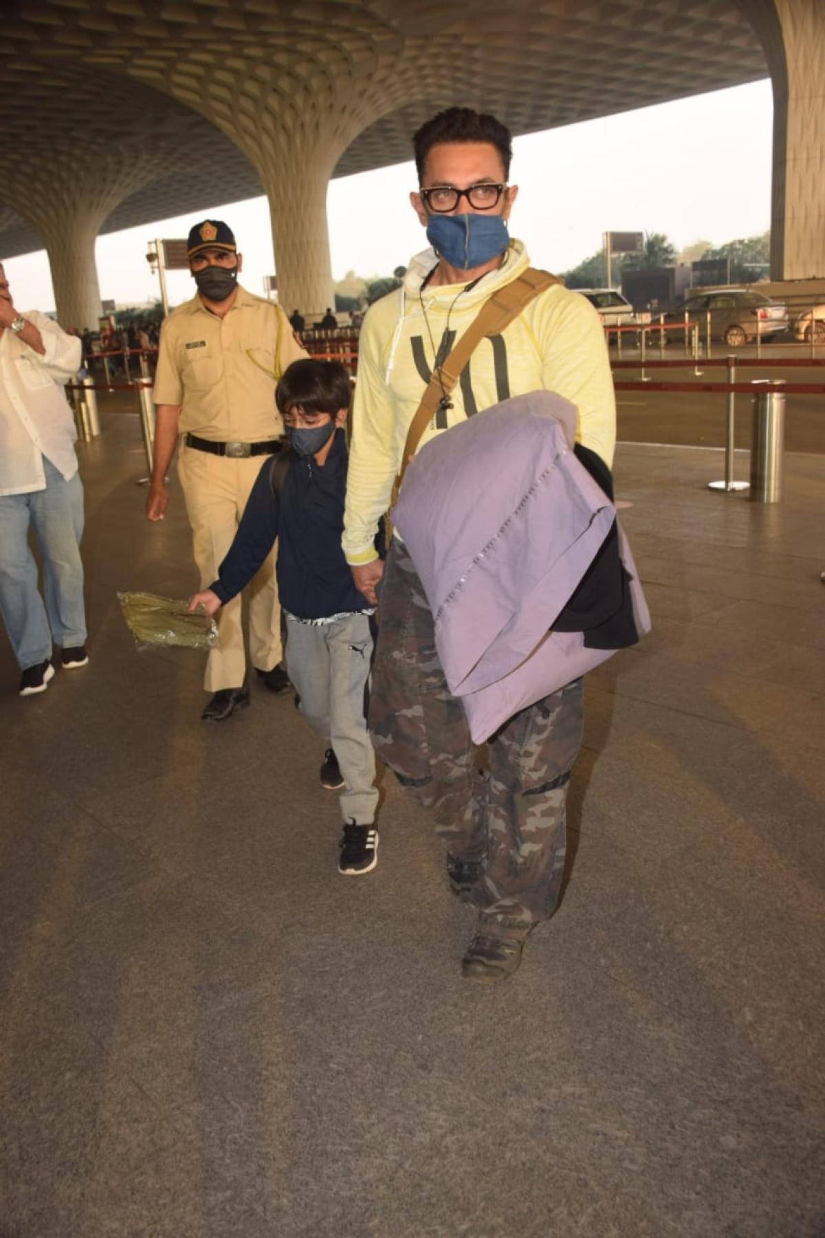 Airport Diaries: Aamir Khan-Kiran Rao, Tiger Shroff-Disha Patani spotted leaving town ahead of New Year 2021