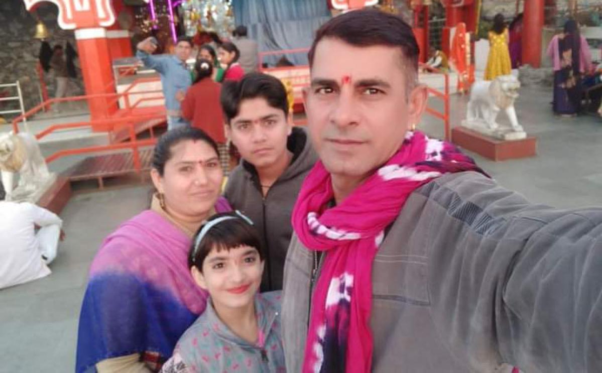 Havildar Mukesh Patel and his family