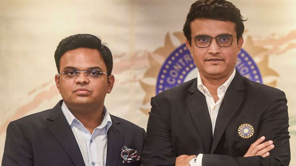 BCCI president Sourav and Secretary Jay Shah (L)