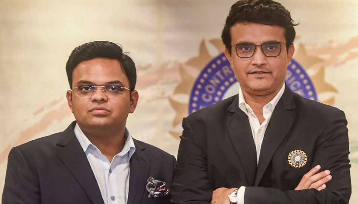 BCCI president Sourav and Secretary Jay Shah
