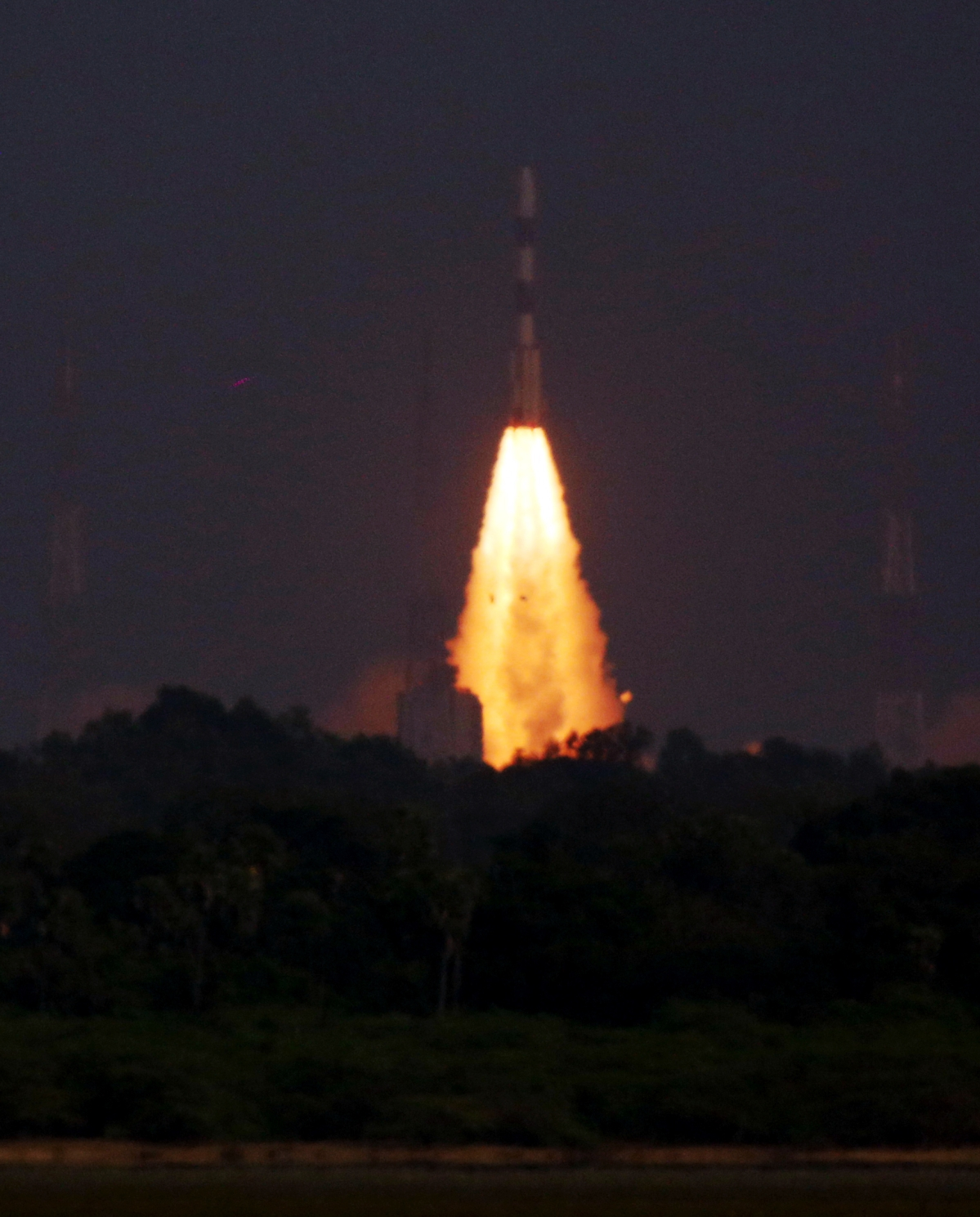 In Pics: PSLV rocket lifts-off with India's 42nd communication satellite CMS-01