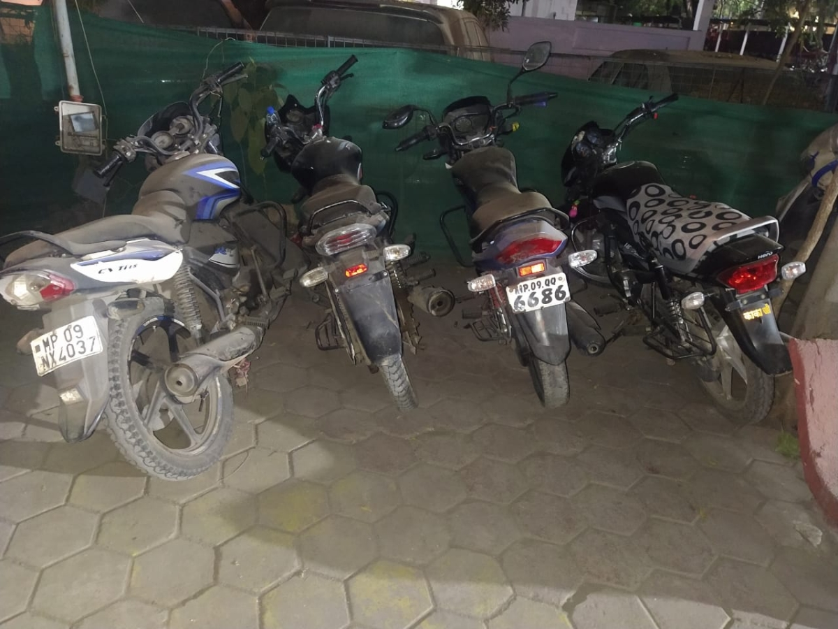 Stolen bikes recovered from accused in Indore