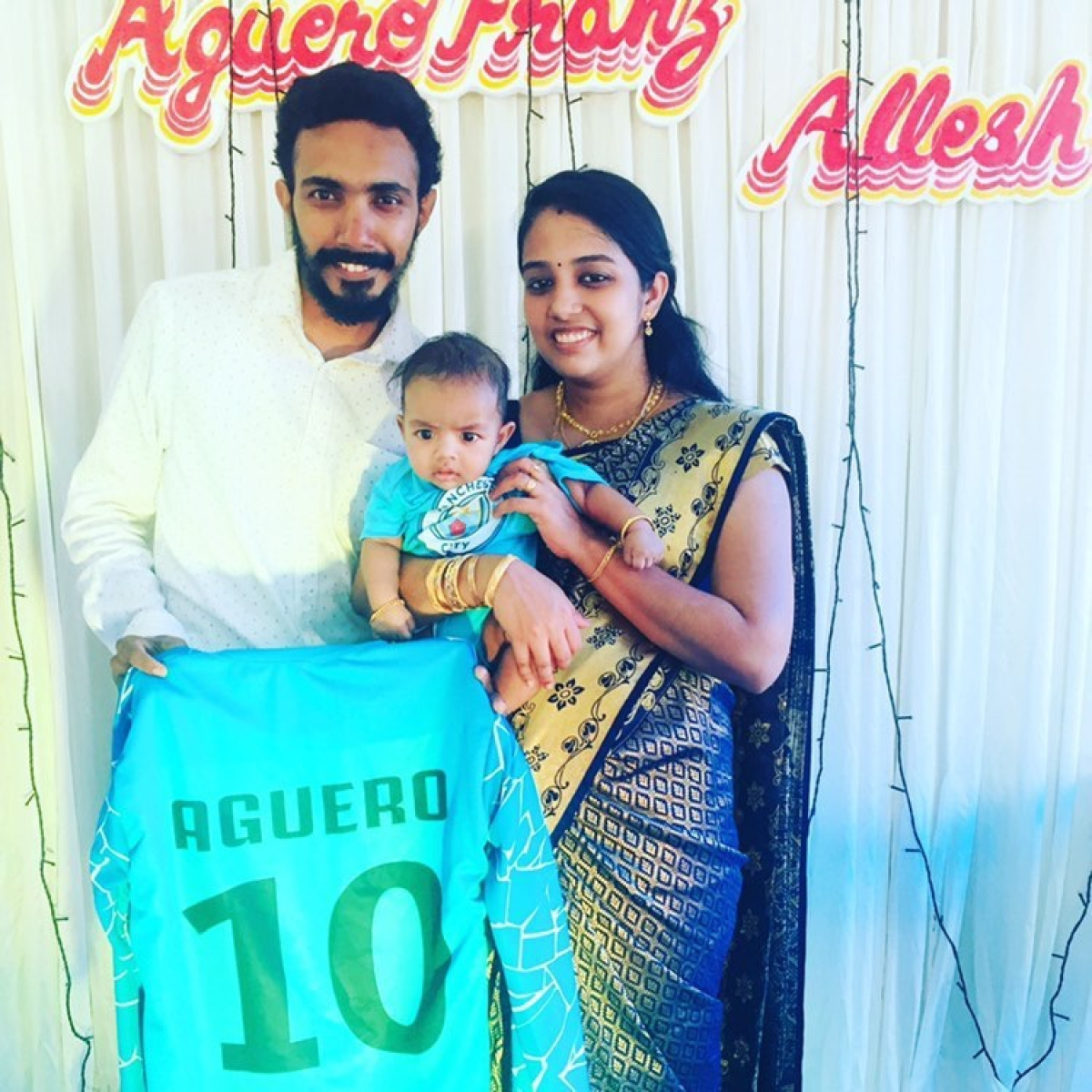 Indian Manchester City fan names newborn son after club's prolific striker