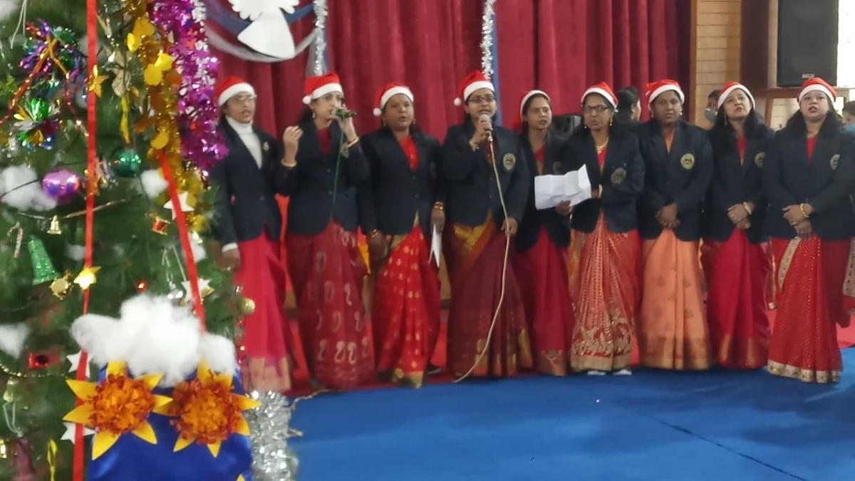 Christmas celebrations in St Arnold's in Vijaynagar