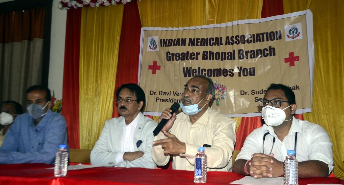 Madhya Pradesh: Indian Medical Association's Ratlam unit protests Mixopathy