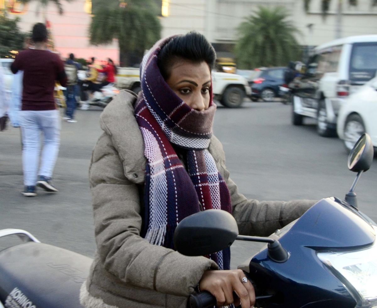 Biting cold has taken the state capital, Bhopal, in its grip with a sharp drop in the day temperature on Monday.