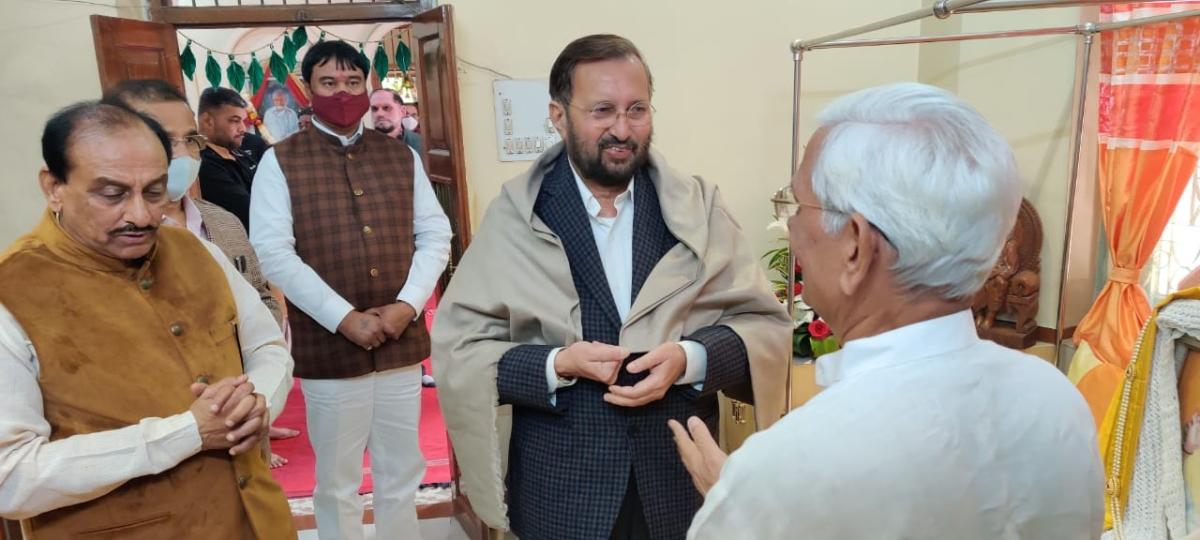 Union minister Prakash Javadekar was in city on Tuesday