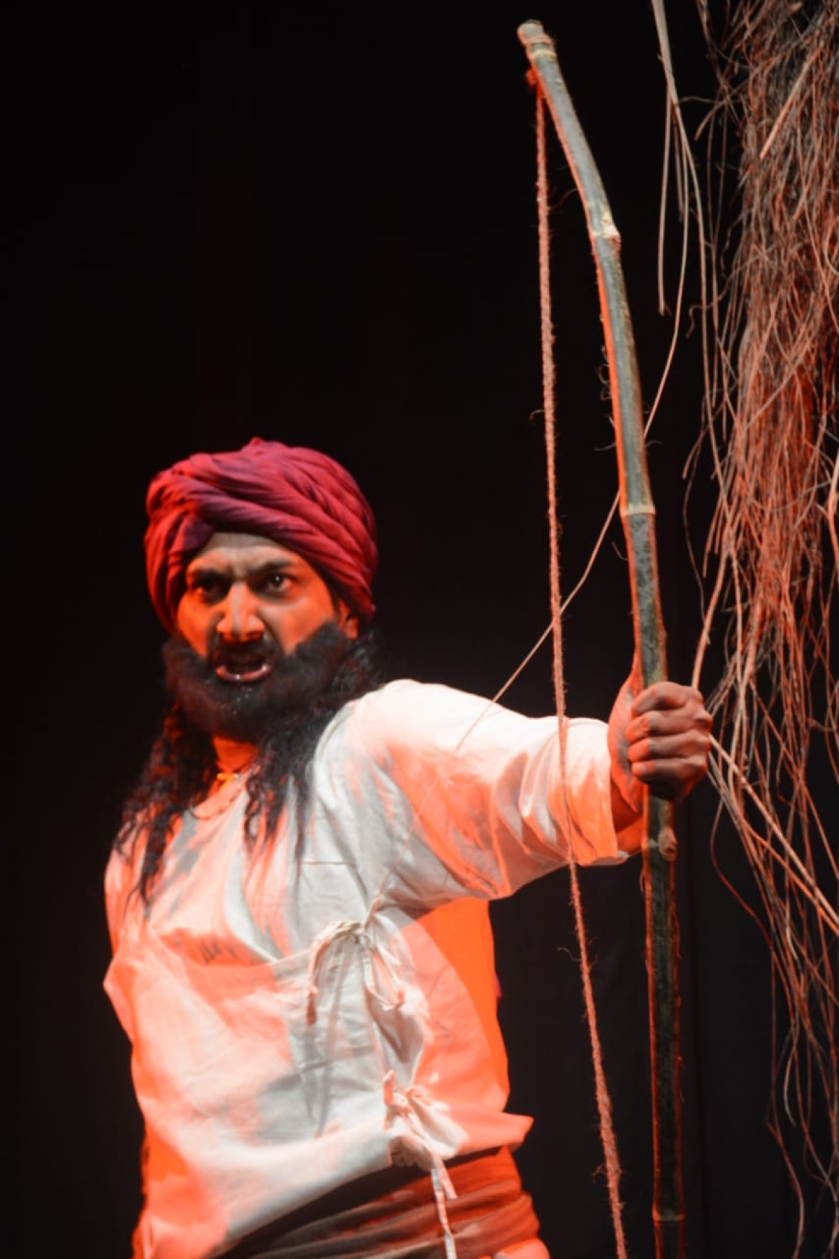 A still from the play 'Jannayak Tantya Mama', story of Robin Hood of India.
