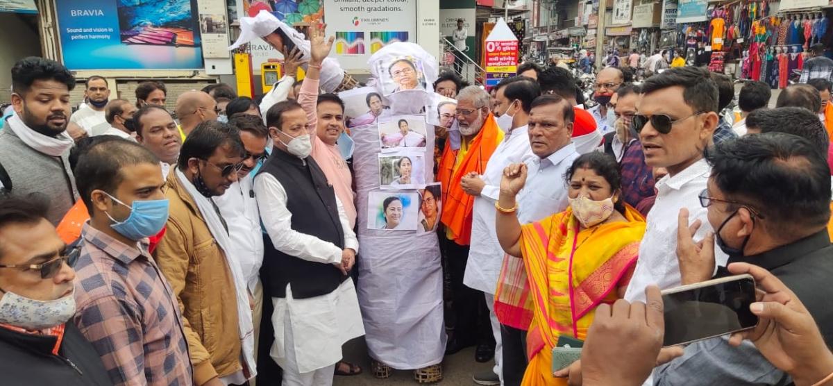 Madhya Pradesh: Protests against Mamata Banerjee-led West Bengal government intensify in Malwa-Nimar region