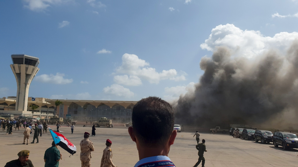 Yemen: Massive blast at Aden airport kills 25, wounds 110