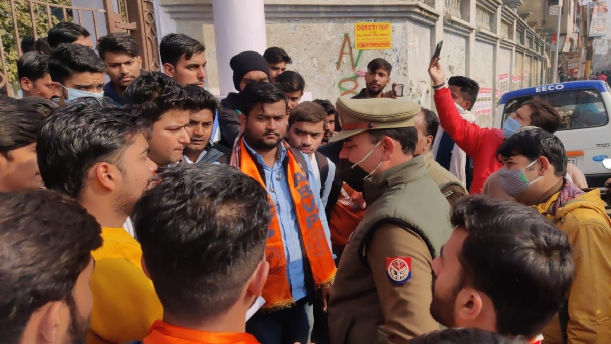 'Now they have come for Jains': Twitter reacts as ABVP activists create ruckus over installation of Jain goddess statue in UP's Baghpat