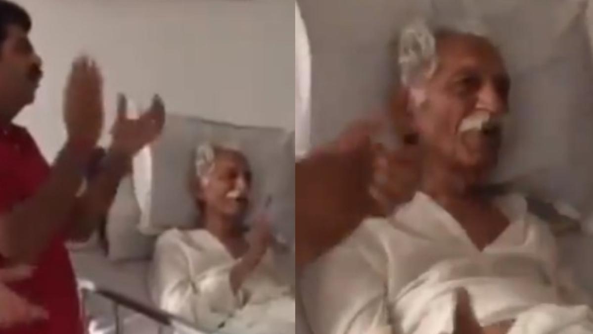 Watch: Video of late MDH owner Mahashay Dharampal Gulati singing patriotic song in hospital leaves internet teary-eyed