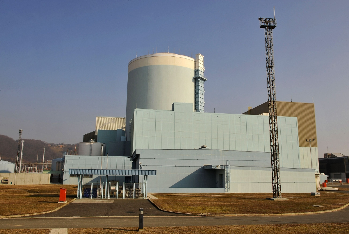 This file photograph taken on February 20, 2008, shows Slovenias only nuclear power plant at Krsko, some 10 kilometers from the border with Croatia
