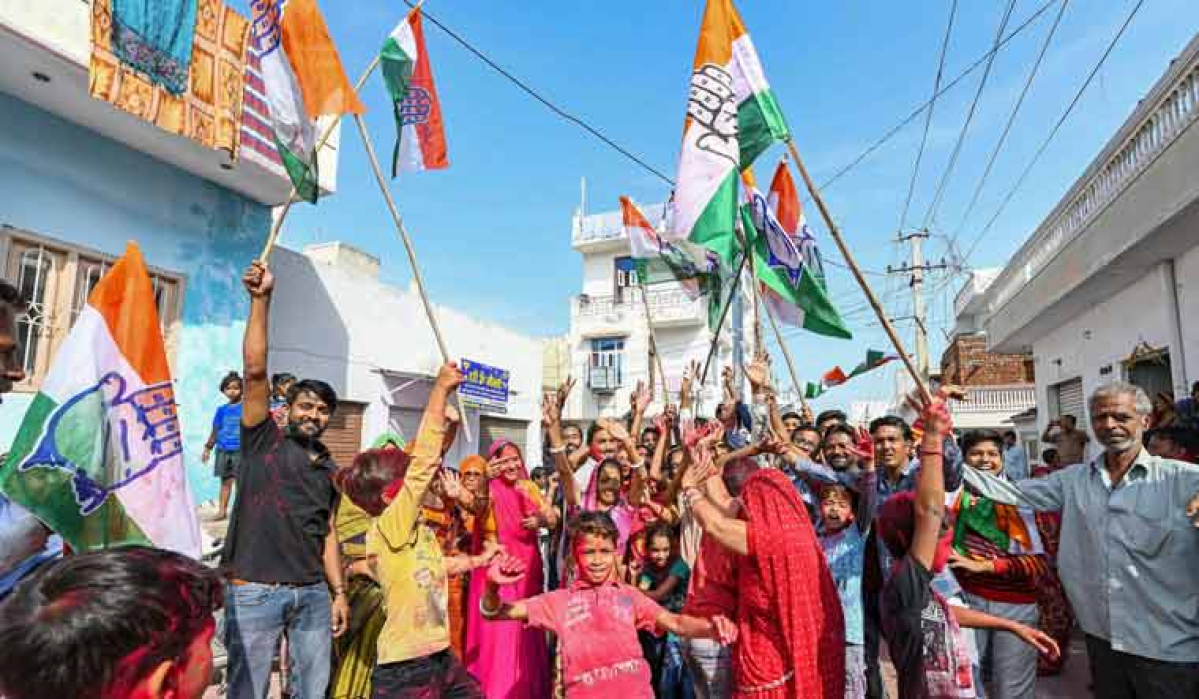 Rajasthan: Congress wins 36 of 50 municipal boards, BJP reduced to 12