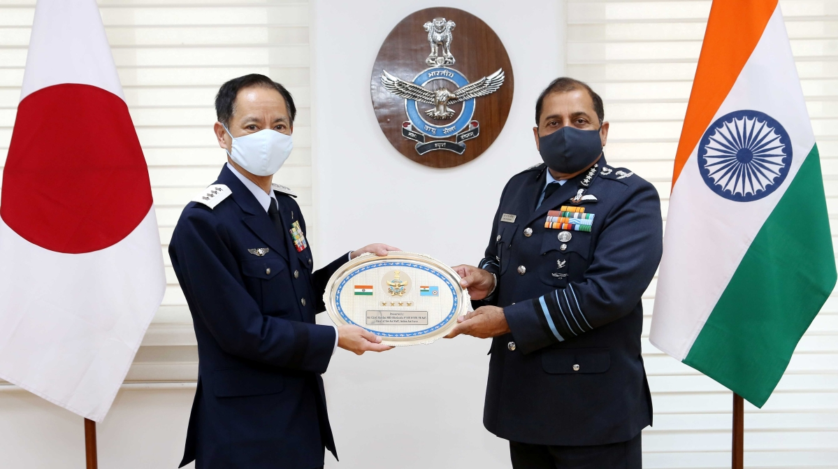 Indian Air Force chief holds talks with Japanese counterpart on boosting military cooperation