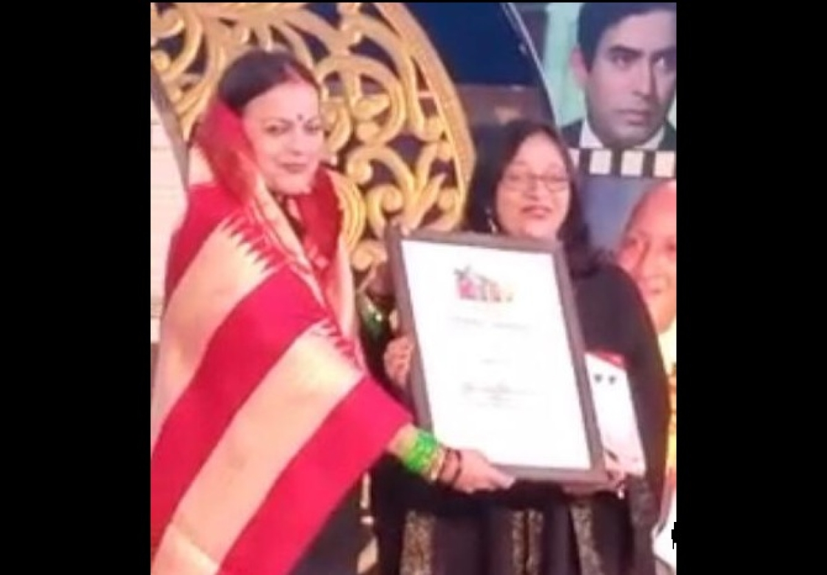 Bhopal: Sound healer Aarti Sinha feted for her special services in health at Khajuraho International Film Festival