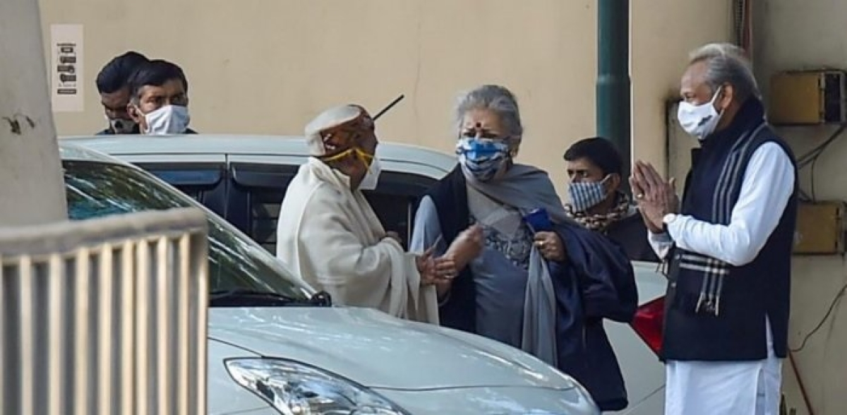Congress leaders arriving for meeting with party chief Sonia Gandhi