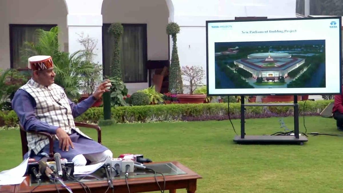 Lok Sabha Speaker Om Birla reveals the model of new Parliament Building