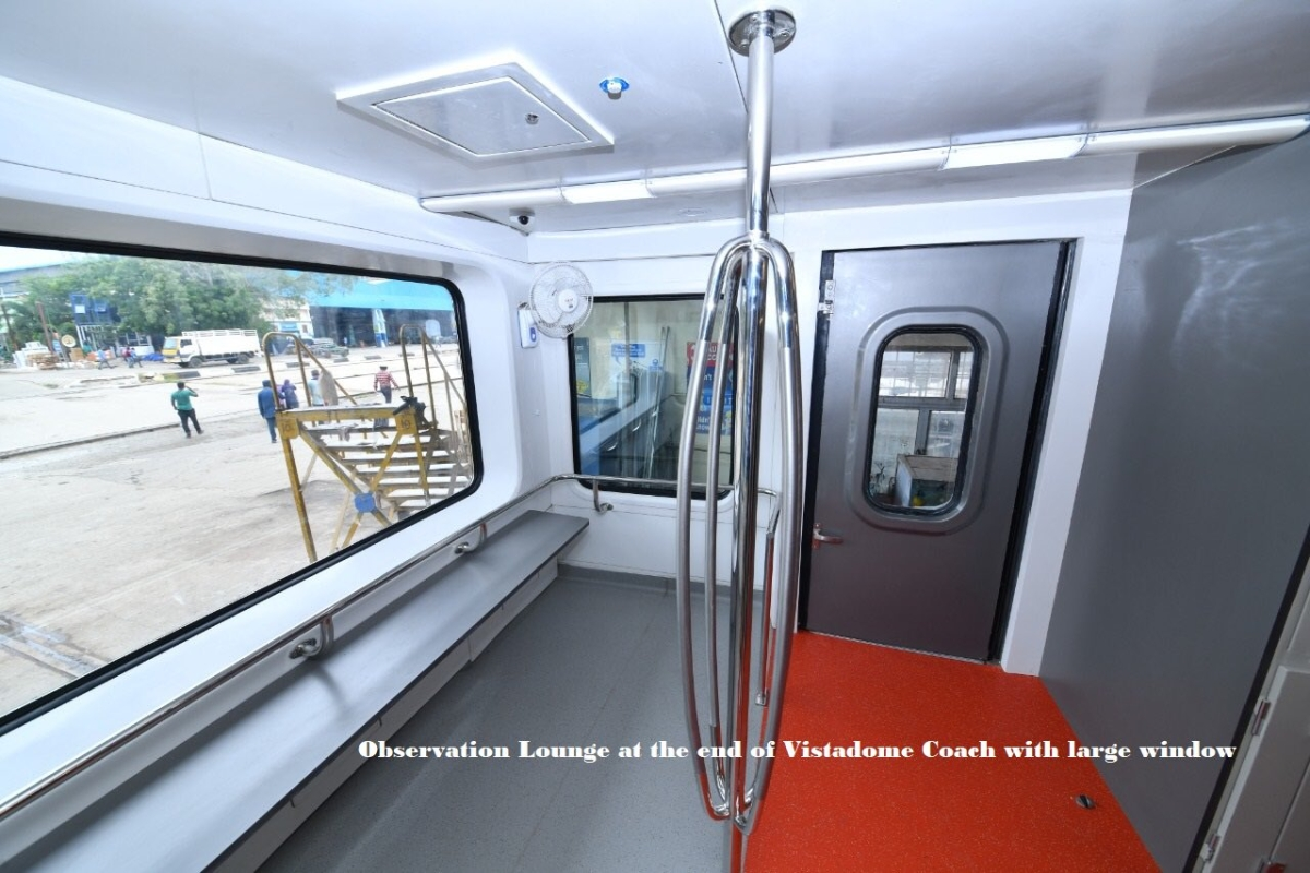 Transparent roof, observation lounge, and WiFi: Sneak peek from Railways' new 180 kmph 'Vistadome' tourist coach