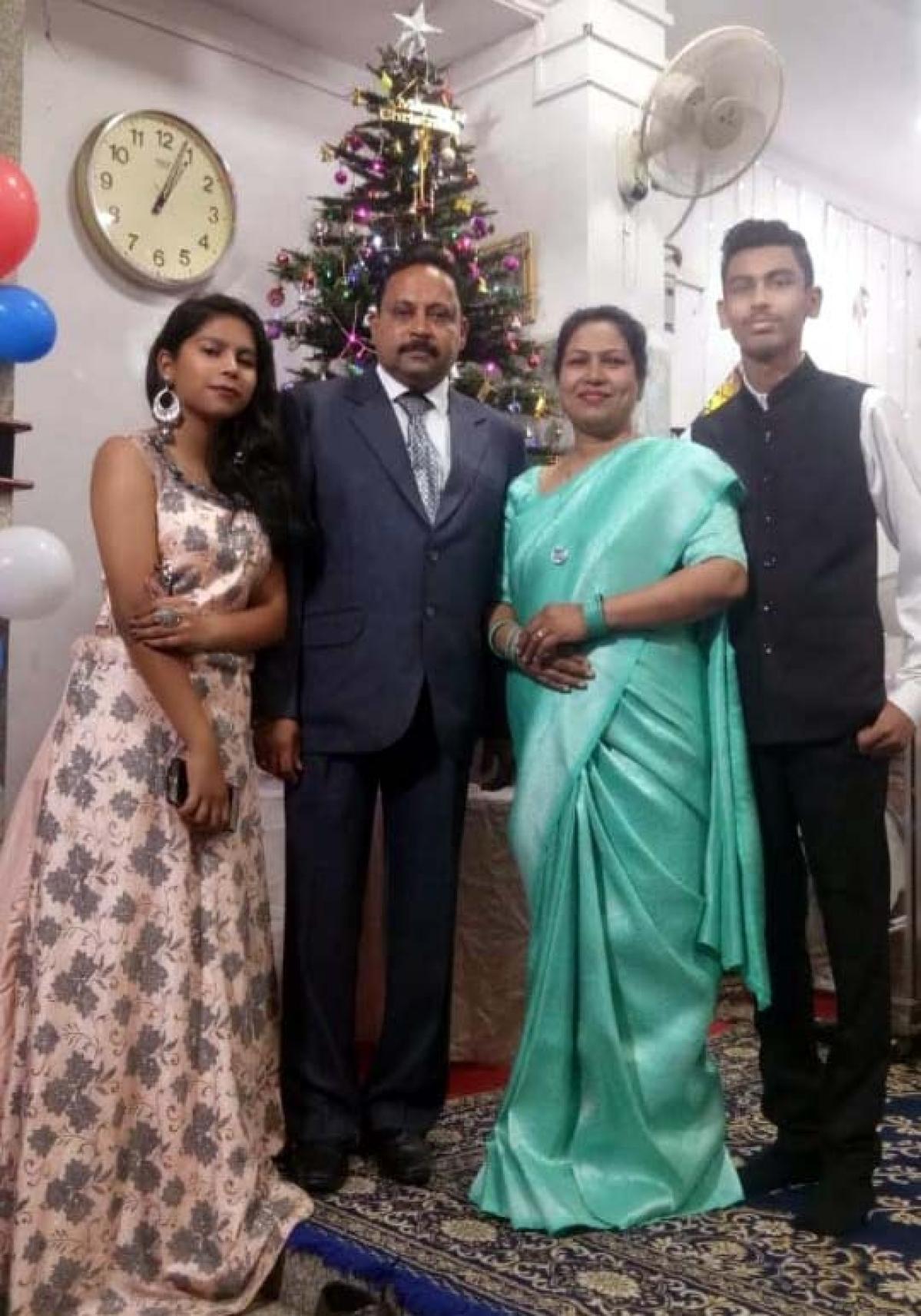 Gloria Rani Mascarenhas with family