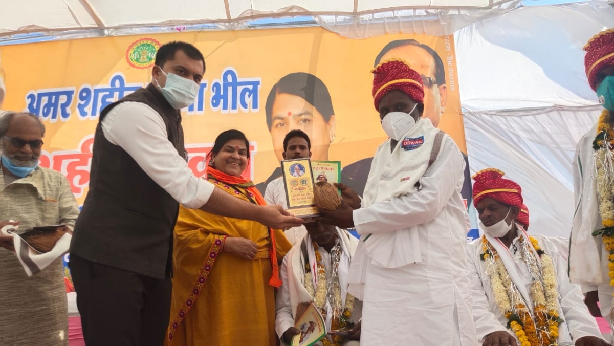 Homage paid to freedom fighter Tantya Bhil on his martyrdom day in Mhow