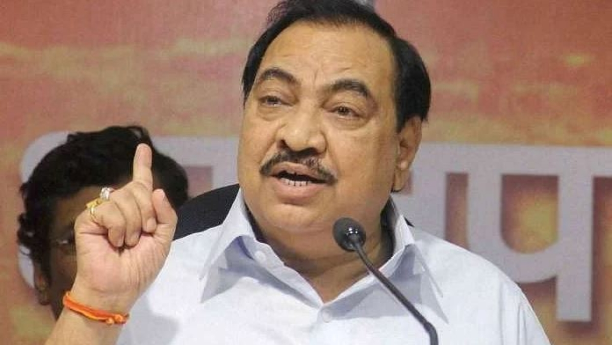 Mumbai: Eknath Khadse slams Devendra Fadnavis for predicting the fall of MVA amindst the pandemic