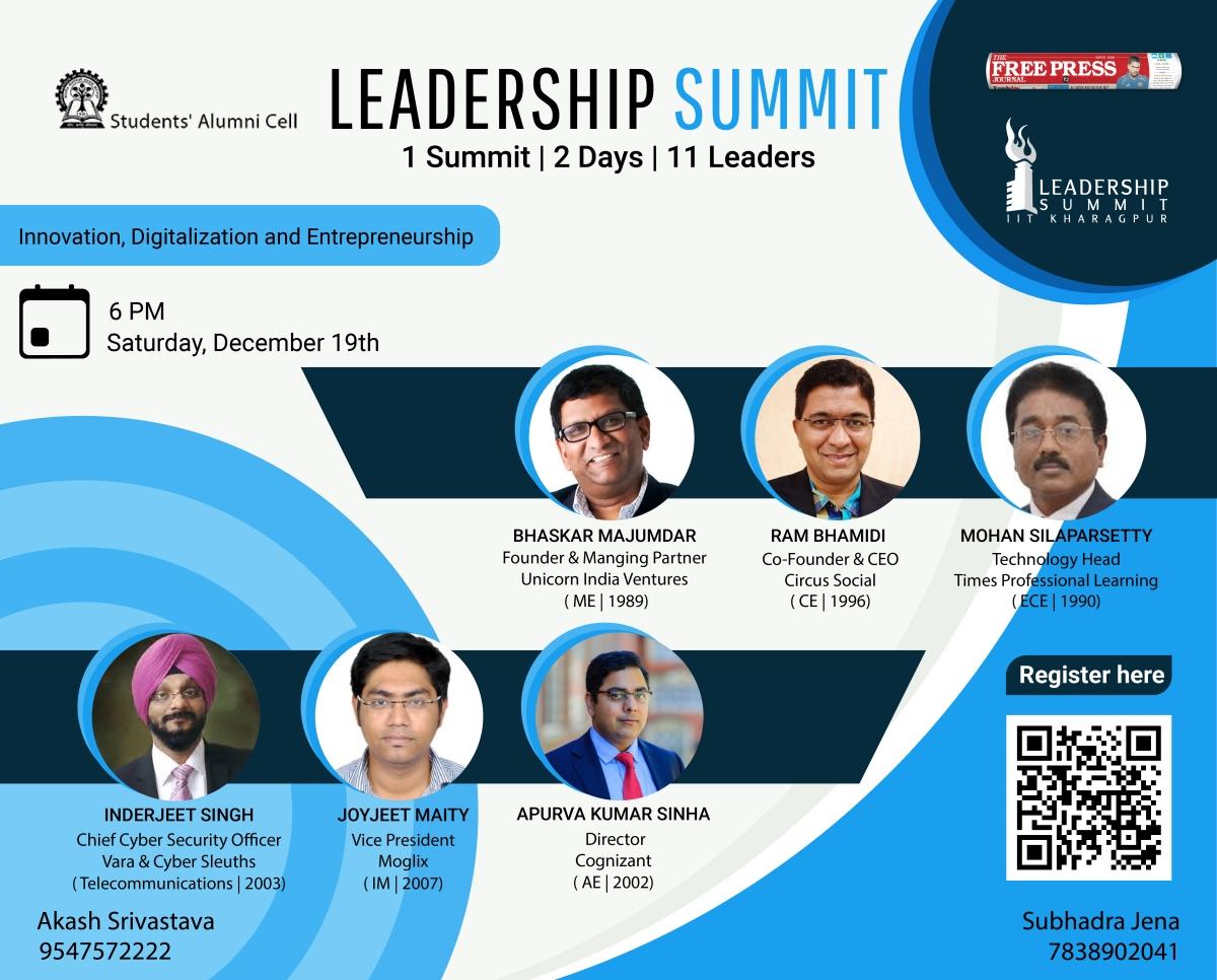 IIT Kharagpur presents Second Session of Leadership Summit 2020!