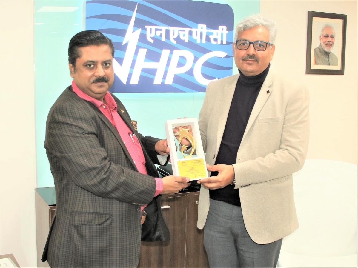 NHPC awarded 'Best Performing PSE' at PRAKASHmay 13th Enertia Awards 2020