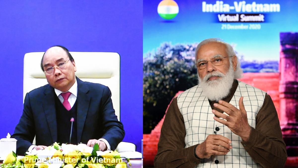Prime Minister Narendra Modi addressing at the India-Vietnam Virtual Summit, in New Delhi on Monday.