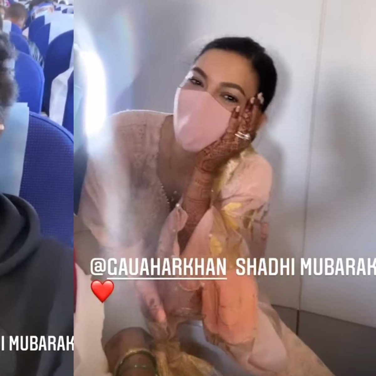 Newly married Gauahar Khan bumps into ex-BF Kushal Tandon in a flight; here's what happened next