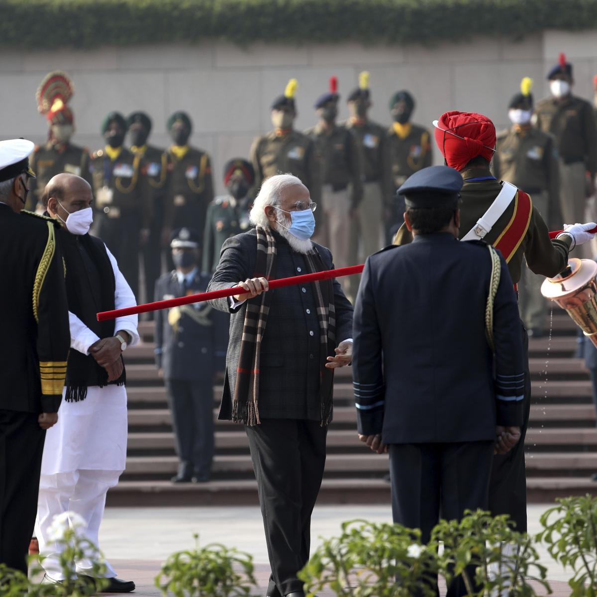 In pics: PM Modi lights up 'Swarnim Vijay Mashaal' on 50th anniversary of 1971 India-Pak war
