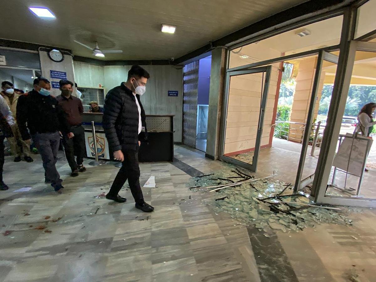 Raghav Chadha files complaint against BJP Delhi chief Adesh Gupta and others for 'vandalising' office