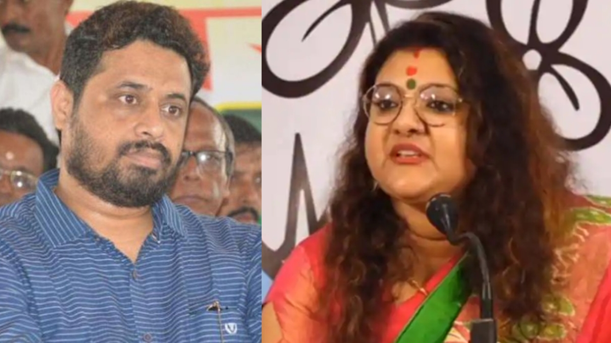 Incensed by his wife's action, BJP's Saumitra Khan (L) said he would be sending a divorce notice to his wife Sujata (R), who has joined the Trinamool Congress
