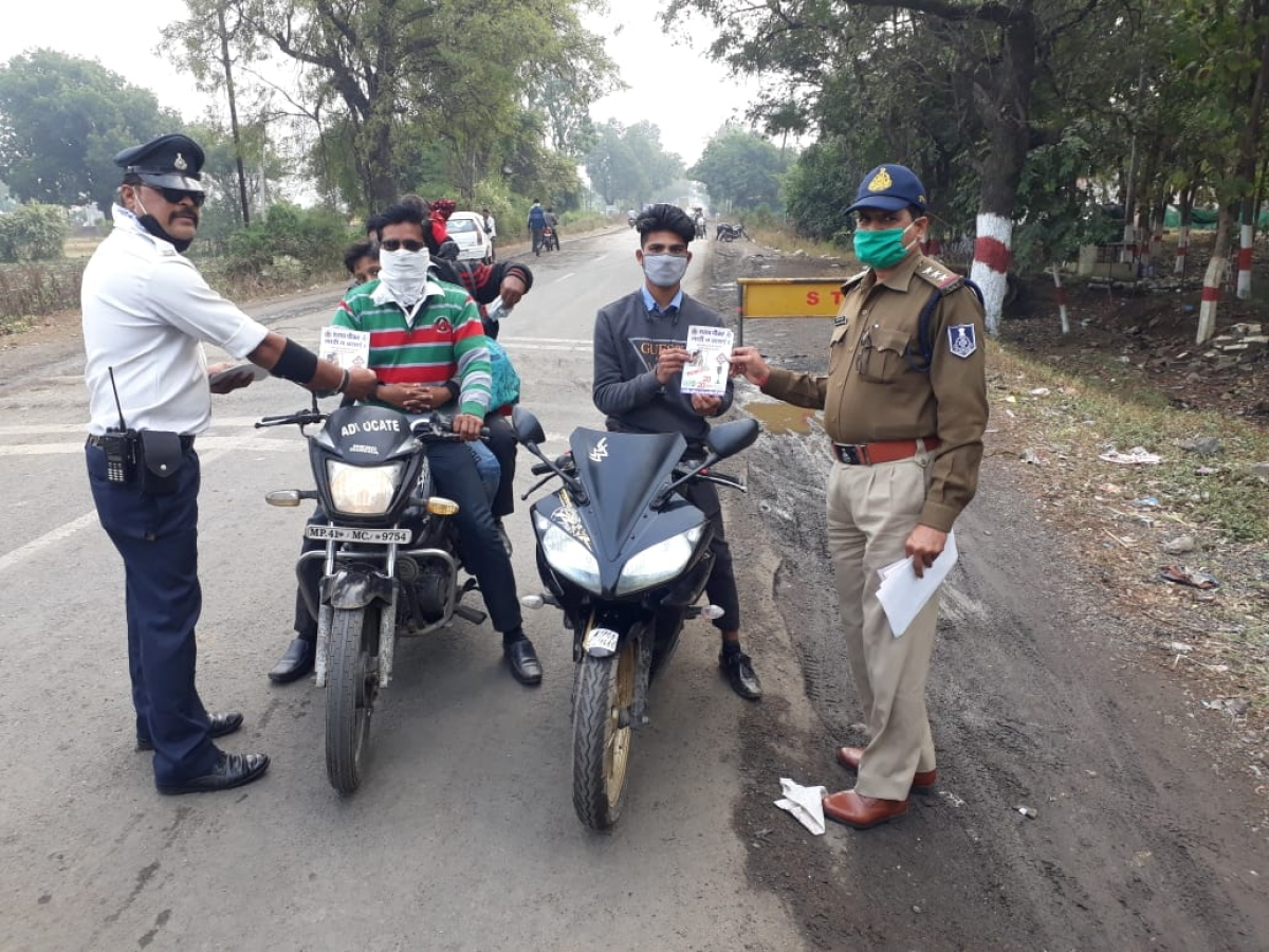 Madhya Pradesh: Traffic department launches awareness drive in rural areas in Indore district to prevent accidents