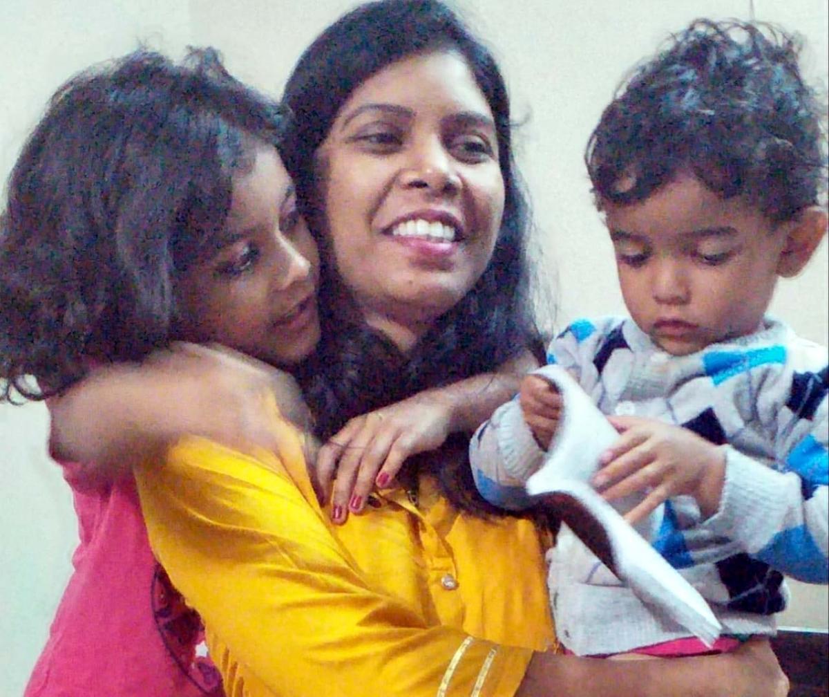 Arpana Spencer with kids