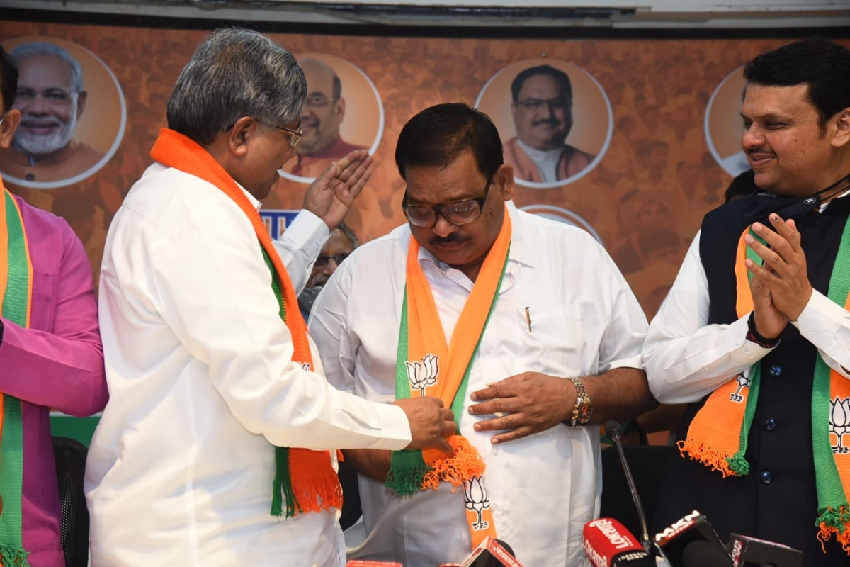 In Pictures: Former Nashik MLA Balasaheb Sanap returns to BJP