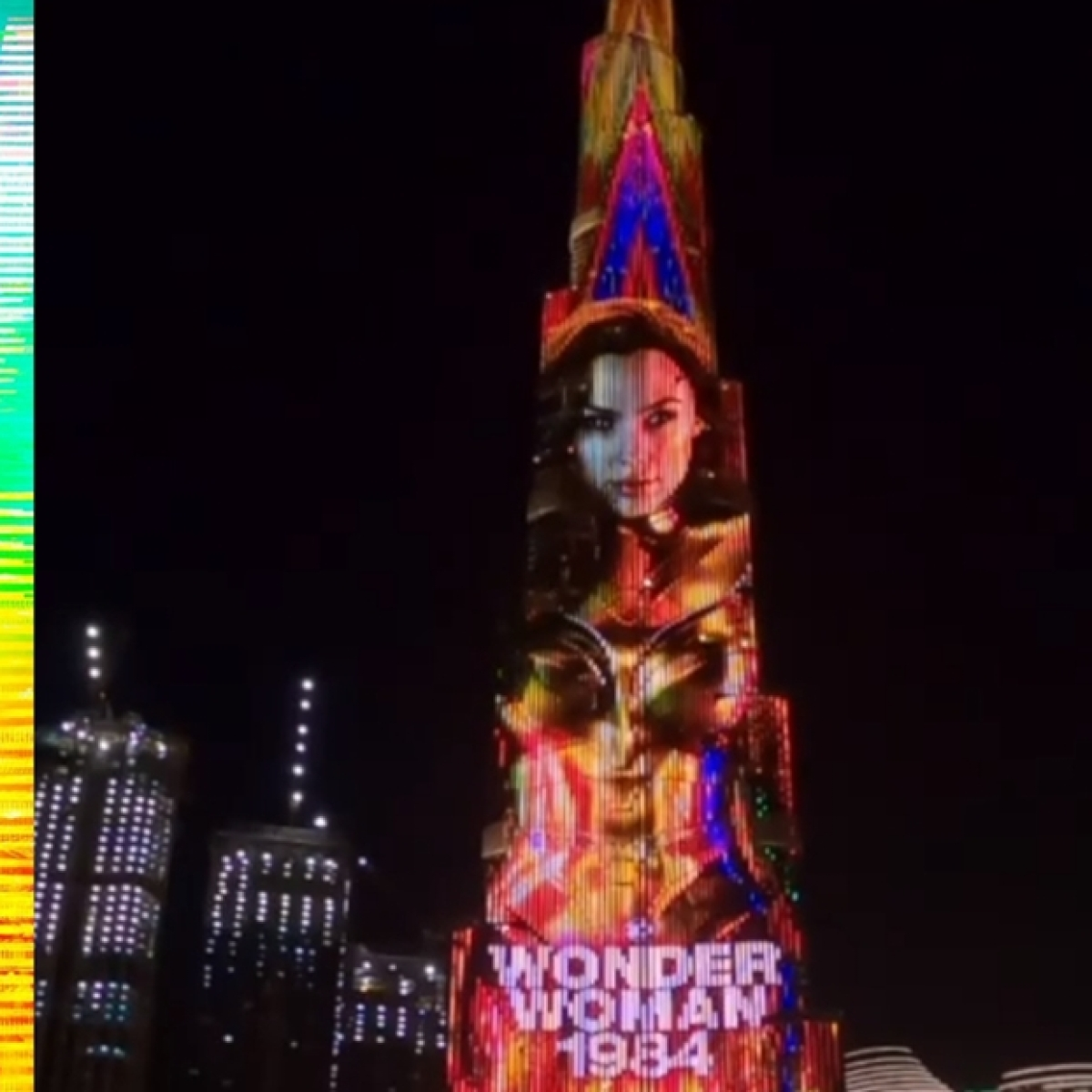 Watch: Gal Gadot shares teaser of 'Wonder Woman 1984' illuminating Burj Khalifa