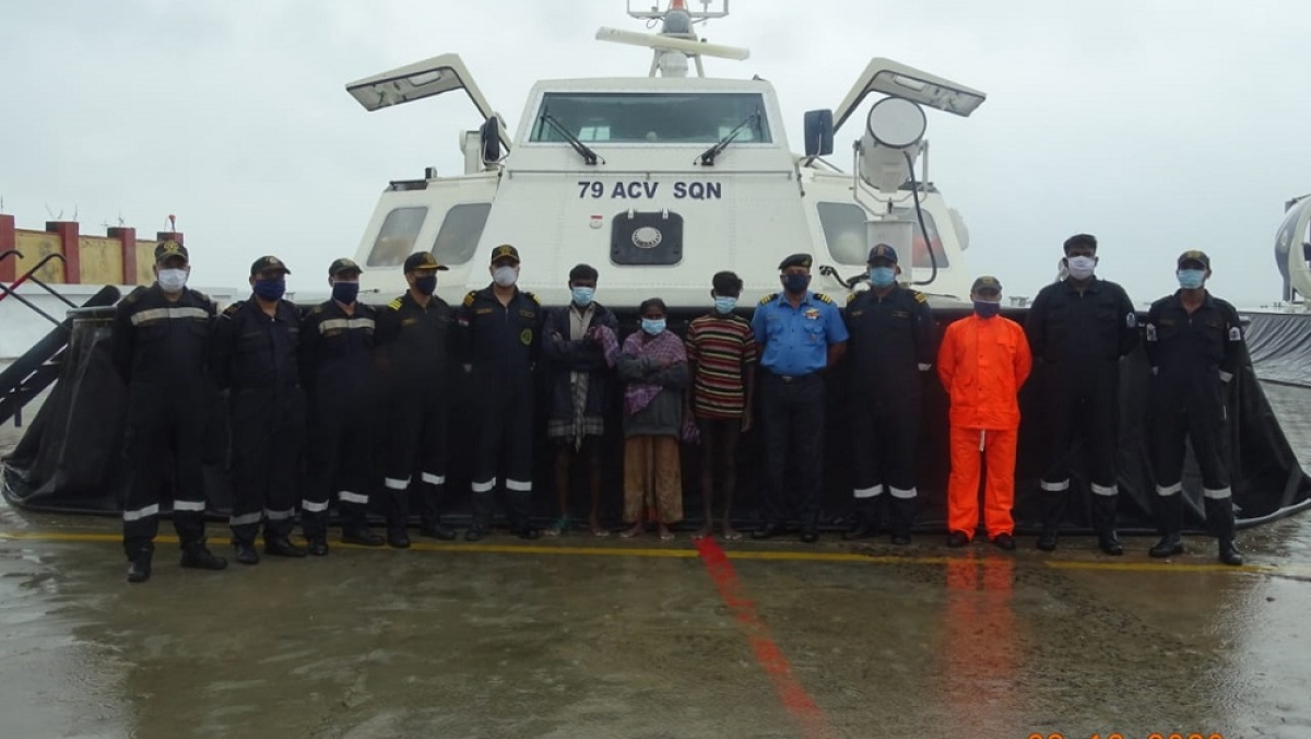 Indian Coast Guard rescues 3 personnel from Manalli Tivu Island in Gulf Of Mannar