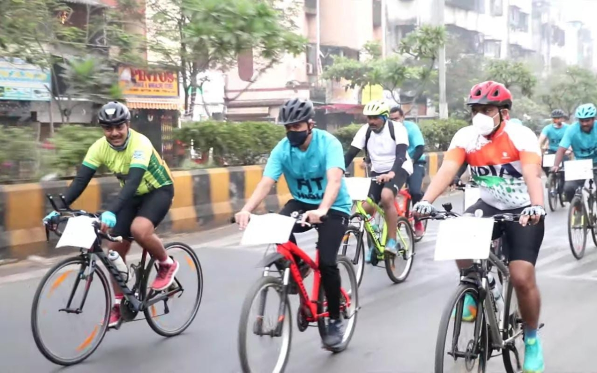 Anti-drug rally: MBVV cops pedal from Kashimira to Uttan