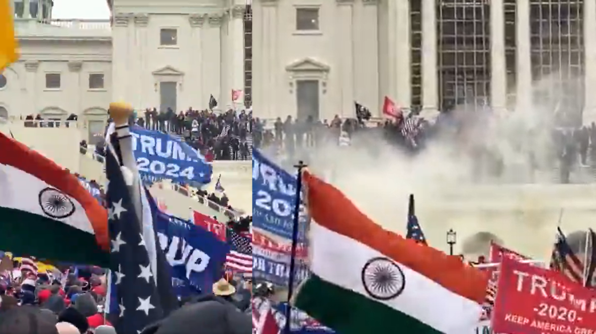 Delhi: Police complaint against Indian national who raised tricolour during US Capitol clash