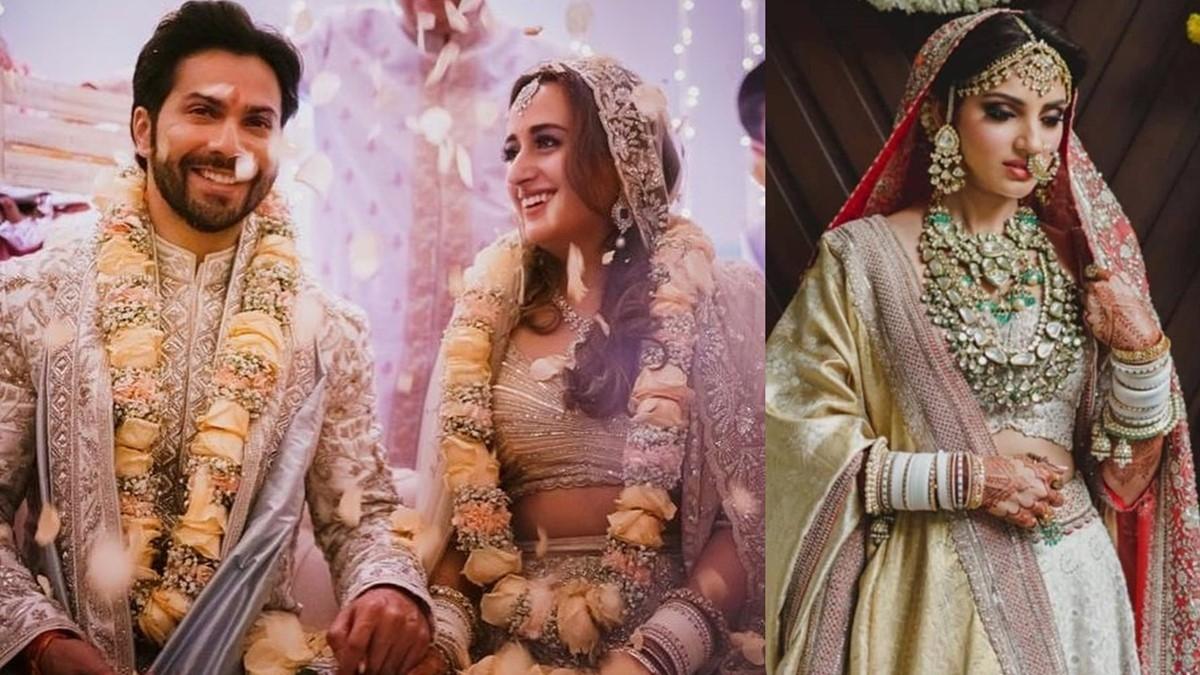 L - Varun Dhawan, Natasha Dalal, R- Miheeka Bajaj