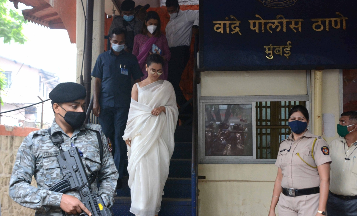 Sedition charges: Kangana Ranaut, sister appear before Bandra Police