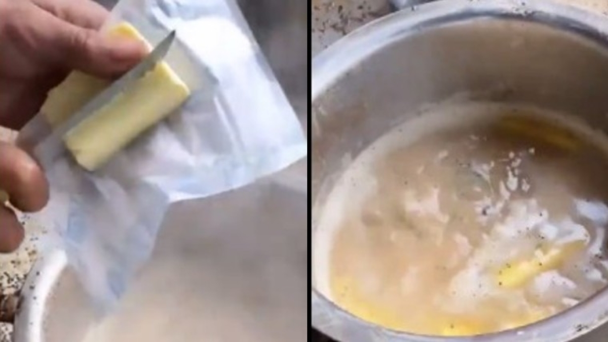 'Sauce aur mayonise bhi dal dete': Twitter horrified with Agra's viral video of butter chai