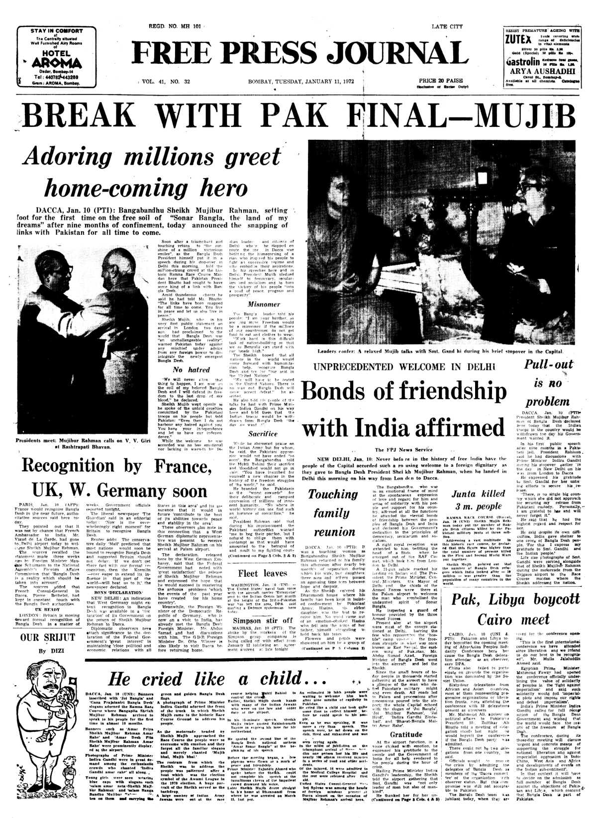 This Week in History from FPJ Archives: Gandhiji undertakes fast unto death, riots break out in Calcutta and more