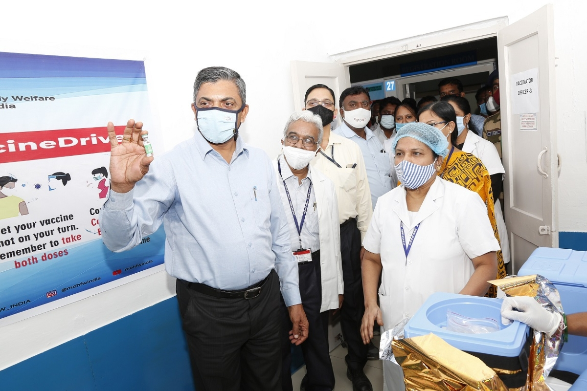 NTPC's Dhanwanthari Hospital staff receives Covid Vaccination