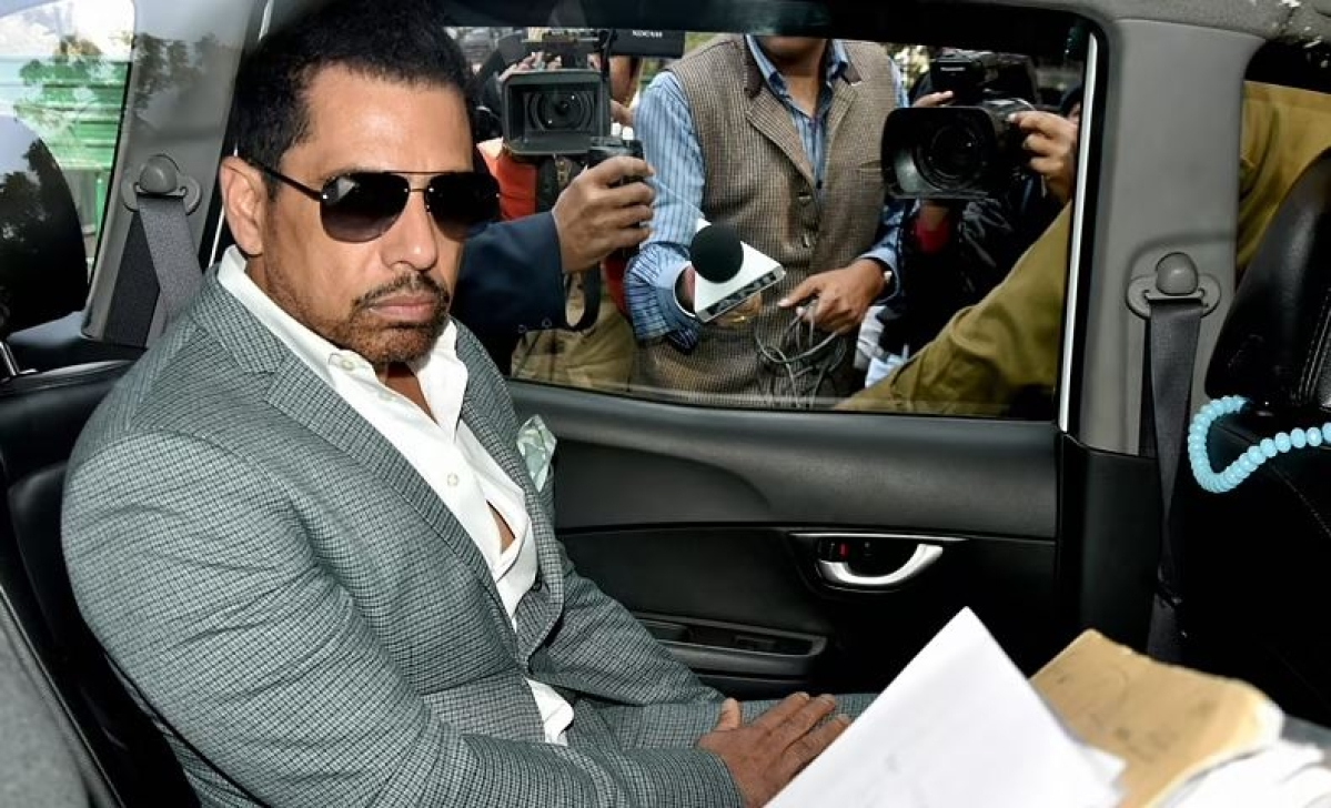 An I-T team visited Vadra's residence to record his statement