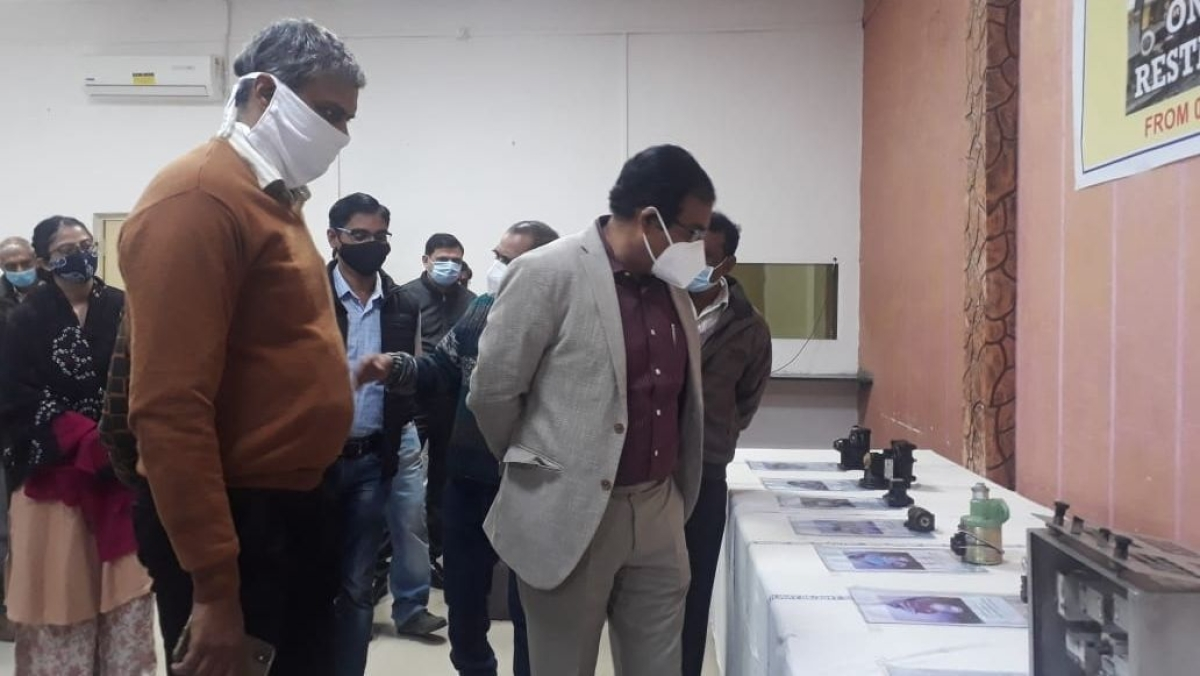 A railway exhibition on the theme of Vocal for Local and Make in India commenced in Ratlam on Friday