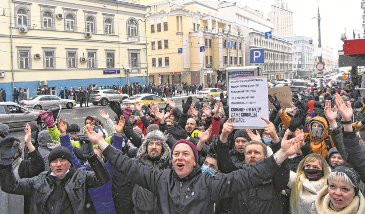 Russia arrests over 4,000 at wide protests backing Navalny